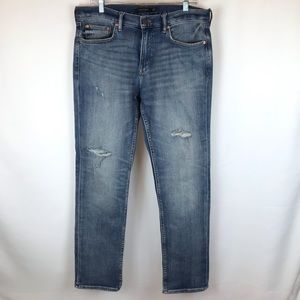 Banana Republic slim 5 pocket distressed jean